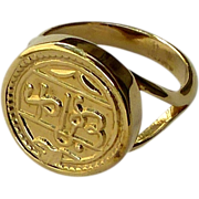 SALE Gold Eletroplated Indian Amulet Ring