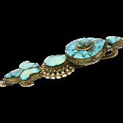 Antique 19th Century Tibetan Tribal Turquoise Earring