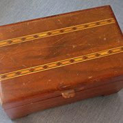Wooden Pencil Desk Box-Maple Inlaid Design