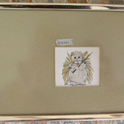 Animal Pen and Ink Original Drawings by Theda