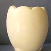 Vase in White Tulip Egg Design