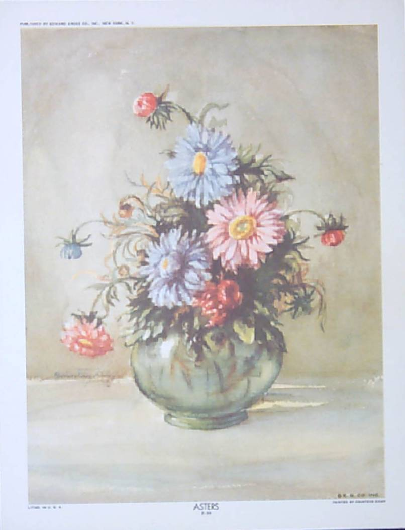 Zichy Floral Lithographs Three Flower Prints From