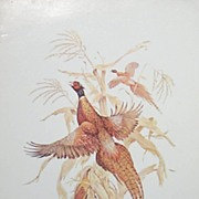 Bird Lithograph - Pheasants