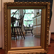 Mirror with Gilded Gesso Design