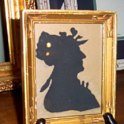 Silhouette Miniature in Gold Frame