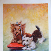Animal Cats and Dog Prints by Florence Kroger
