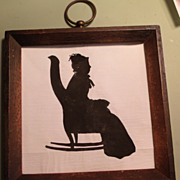 Silhouette of Lady Sitting in Rocker