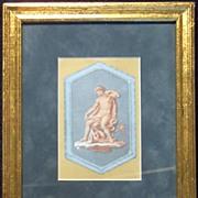 Grecian Art Work-Mythology Lithograph Framed