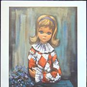 Children Sad Eyed Portraits-Eden Lithographs