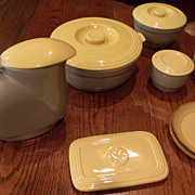 GE Yellow and Grey 1930's Glass Cookware
