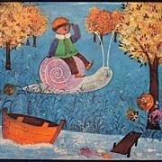 Art Prints Children -  Vintage Art from the 60's