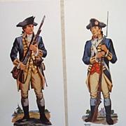 Revolutionary War Uniforms Vintage Soldier WatercolorsPrints Collection (3)