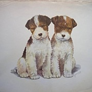 Lopez Lithograph Terriers