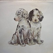 Vintage Animal Watercolor Prints by Grace Lopez