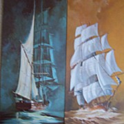 Ship Lithograph by B. Logger