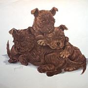 Dog Portrait Print by Grace Lopez
