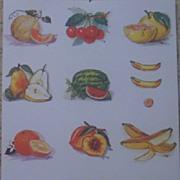 Fruits Sheet