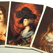 Portraits of Classic Ladies-Bonaparte-Gainsborough-Sanzio