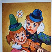 Children Clown Portfolio of Nursery Lithographs-Set of Four