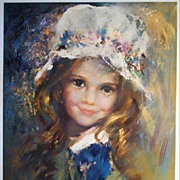 "Vintage Children's Portrait ""Winsome"" by Runci"