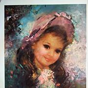 """Vintage Children's Portrait """"Captivating"""" by Runci"""