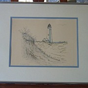 Lighthouse Pencil Drawing