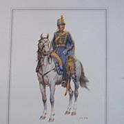 Soldier Officer-Kingdom of Sweden-Lithograph