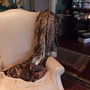 Leopard  Skin Print Velvet Throw