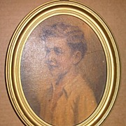 Boy Portrait in Oval