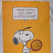 Charlie Brown Tennis Poster