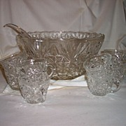 Punch Bowl and cups By Arlington