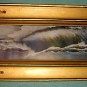 Water on Rocks Lithograph-Ocean Wave-Falls