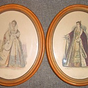 Fashion Women in Maple Oval Frames