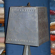 Punched Tin Lamp
