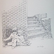 Pointillism Pen and Ink Art Signed Loi T. Mai