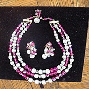 Wonderful Alice Caviness Necklace and Earring Set, signed
