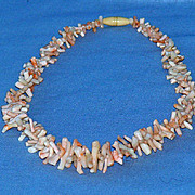 Lovely pink branch coral necklace