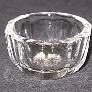 Ten Panel Plain Bowl Open Salt