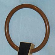 Unusual rectangular old barrel stopper or plug
