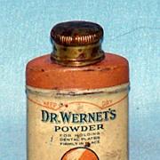 Dr. Wernet's dental powder tin