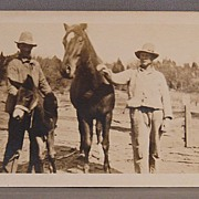 Photograph Farmers with Horse and Donkey