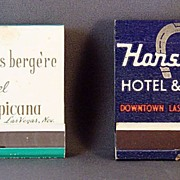 Las Vegas Match Books  Tropicana Hotel and Horseshoe Casino