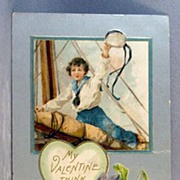 SALE Nautical Theme Valentine 1908
