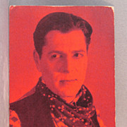 Arcade Card Warner Baxter cowboy movie star  red tint