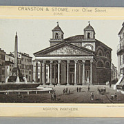 Cranston and Stowe St. Louis Missouri advertising card