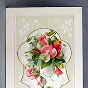 Unused New Year Wishes with add-ons of silk with sweet peas.
