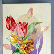 1910 John Winsch A Joyful Eastertide with colorful tulips