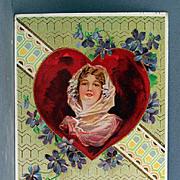 SALE Valentine Gel Postcard with Beautiful lady