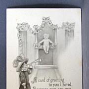 1913 Birth Announcement Post Card
