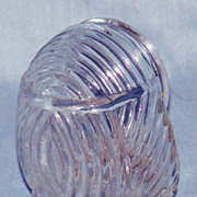 Glass bird cage seed cup U.S.A.